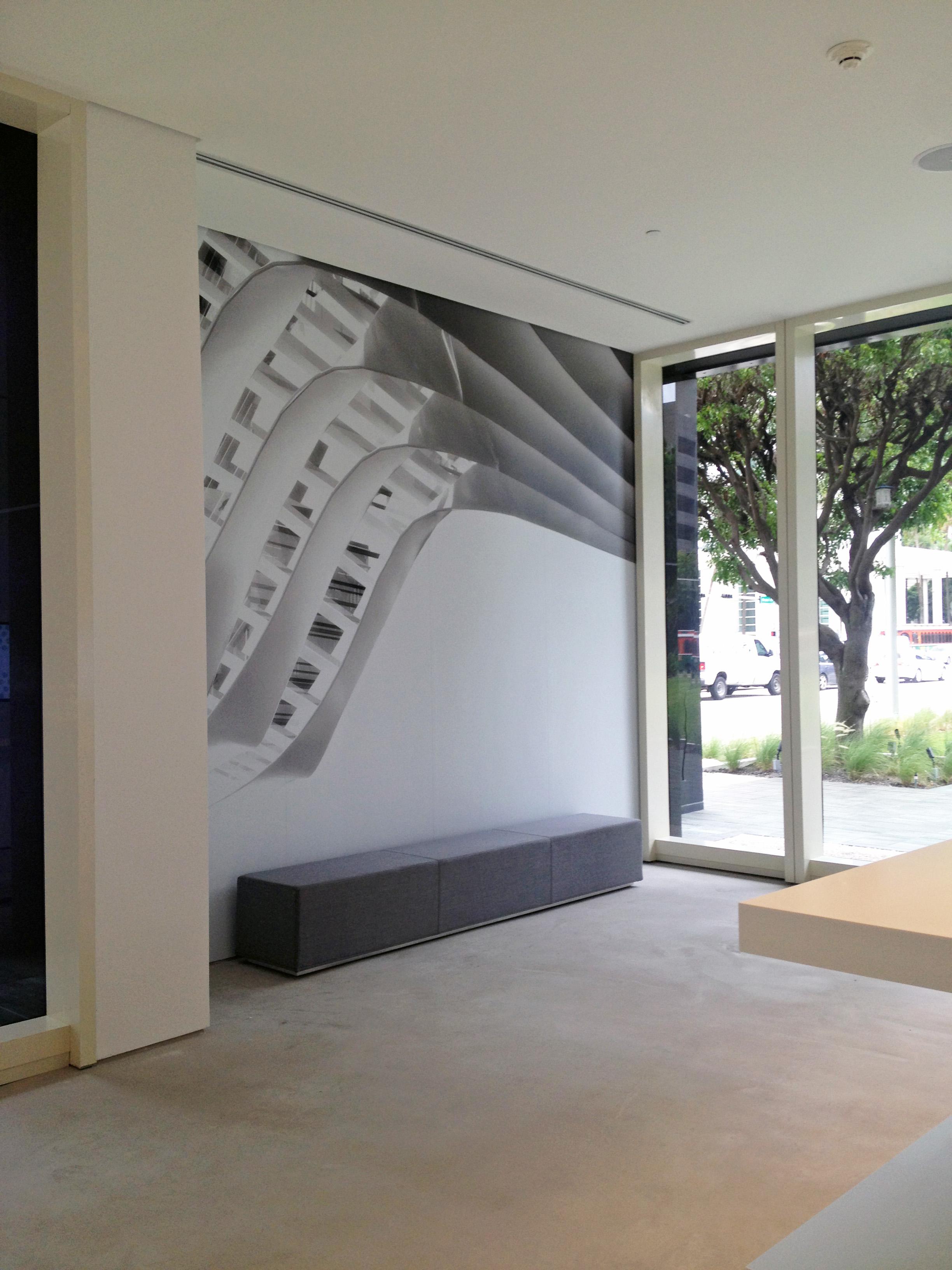 ashesive vinyl mural
